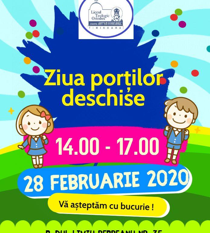 Ziua portilor deschise afis 2020